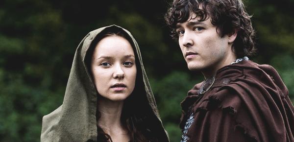 Merlin (c) BBC Cymru Wales Alexander Vlahos (Mordred) & Alexandra Dowling (Kara)