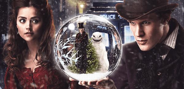 Doctor Who (c) BBC Jenna Louise Coleman (Clara) & Matt Smith (le Docteur)